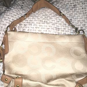 Cream Colored COACH Purse